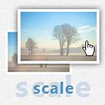 マウスオーバーで画像を拡大・縮小表示 scale()
