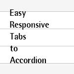 マルチデバイスに対応してタブからアコーディオン表示に切り替える「Easy Responsive Tabs to Accordion」