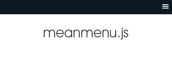 レスポンシブ対応メニュー用jQueryプラグイン「meanmenu.js」