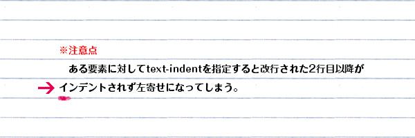 text-indentした要素が複数行になった時の左側を揃えたいとき