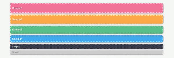 CSSでステッチ風タグの描き方