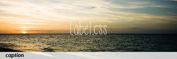画像のキャプション表示を重ねるのに便利な「Label.css」