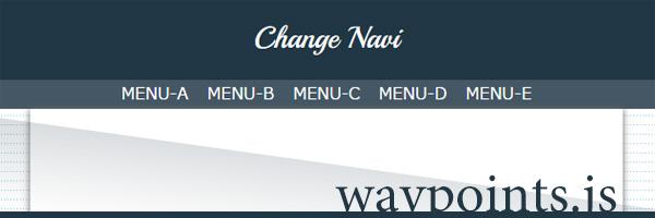 スクロールをキーとしたアクションを「waypoints.js」で実現