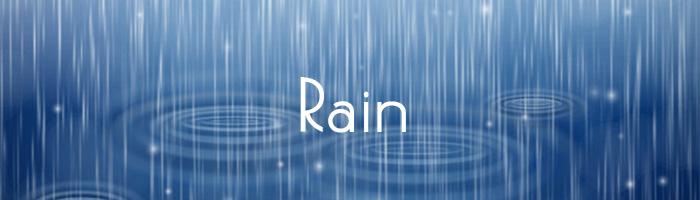 そろそろ梅雨入り!ということで雨の無料素材15選