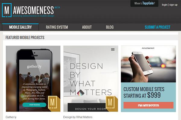 Mobile Website Gallery