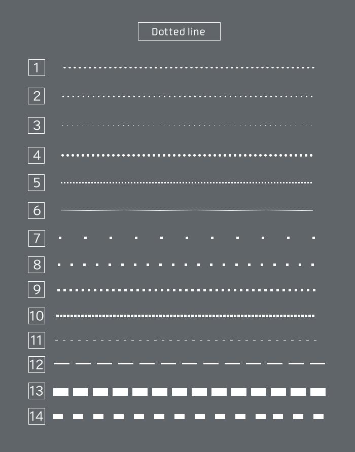色々な点線を表現する