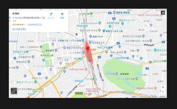 Googleマップをポップアップ表示