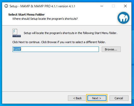 Select:MAMP
